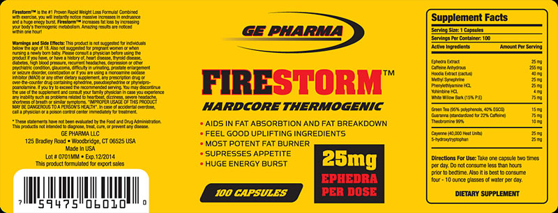 Ge Pharma FireStorm