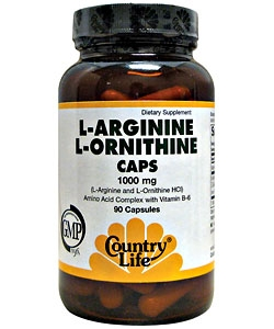 Country Life L-Argenine, L-Ornithine (90 капсул)