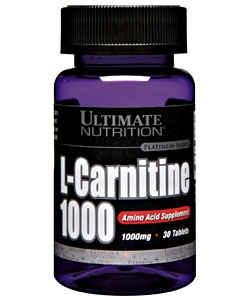 Ultimate Nutrition L-Carnitine 1000 mg (30 таблеток)