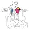Жим от груди в тренажере сидя