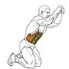 Скручивание на коленях в блочном тренажере